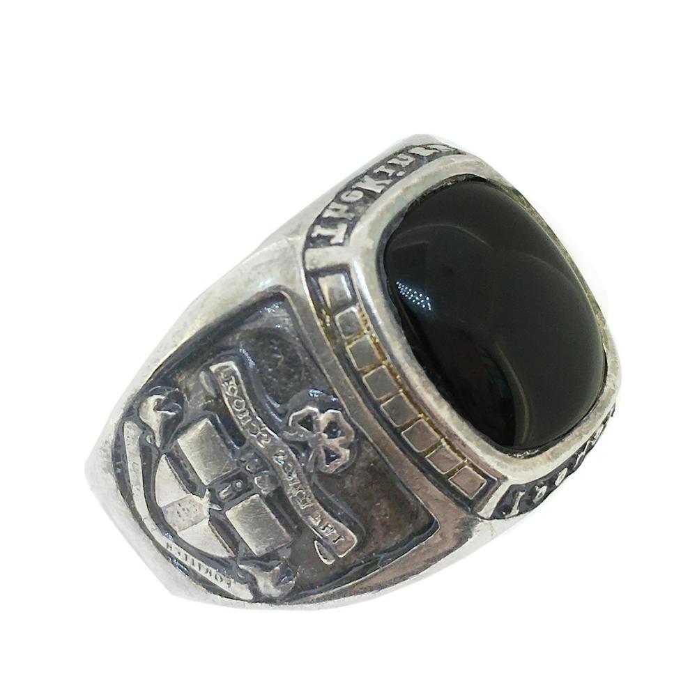 Black stone custom men finger 5925 italy silver jewelry