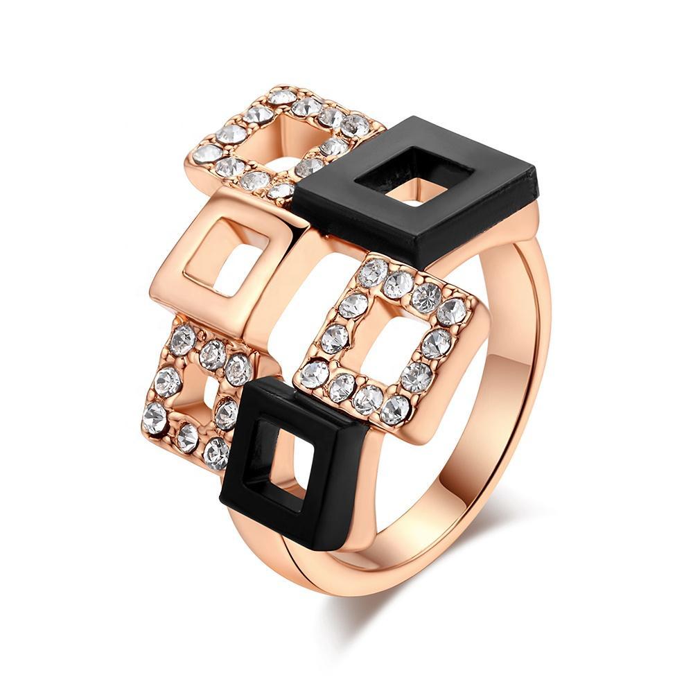 Fashion scattered cz royal gold ring designs for men