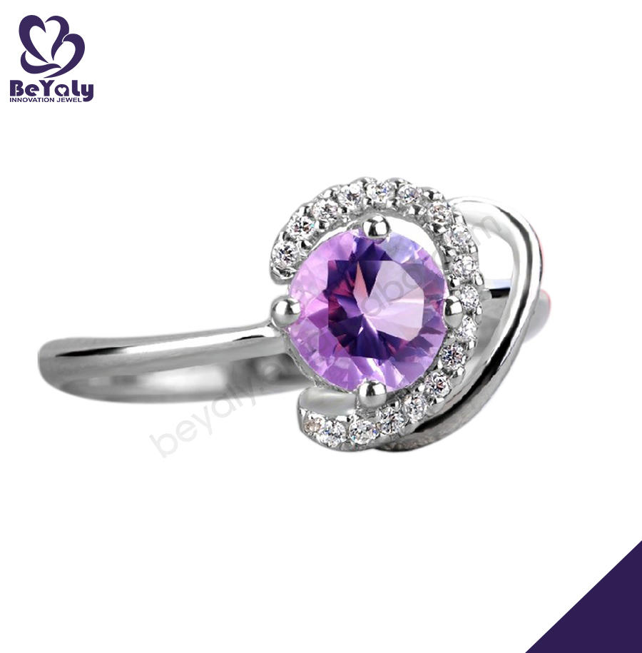 Rolling chic purple cz 9925 sterling silver jewelry