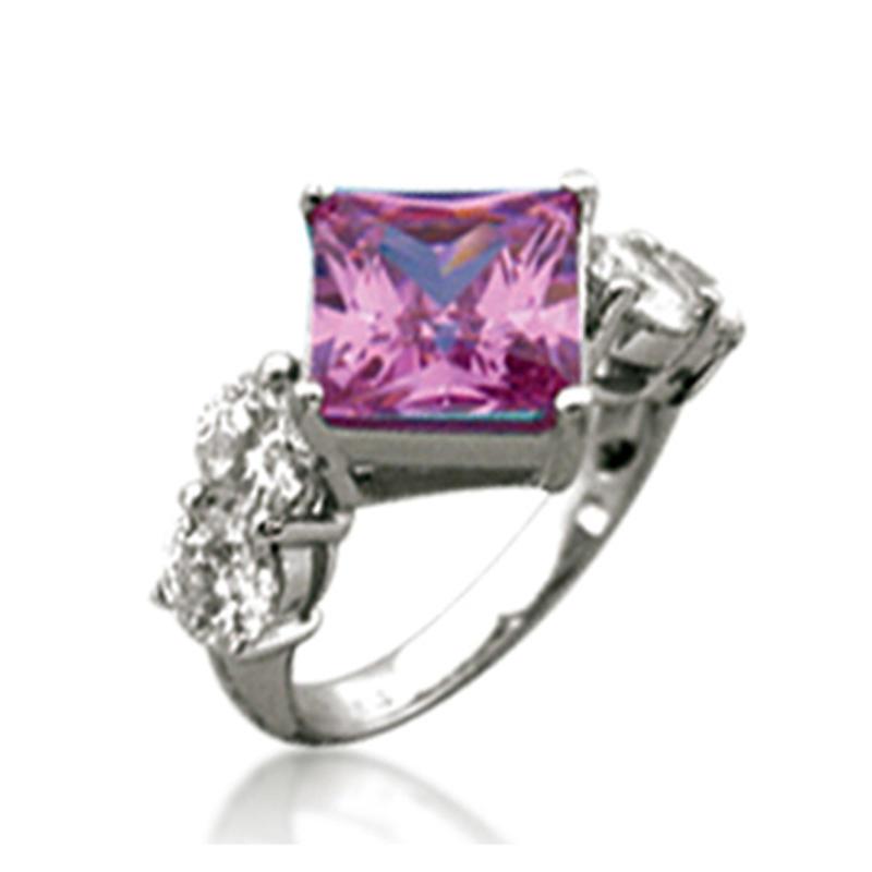 Cheap silver purple stone artificial diamonds rings price in pakistan