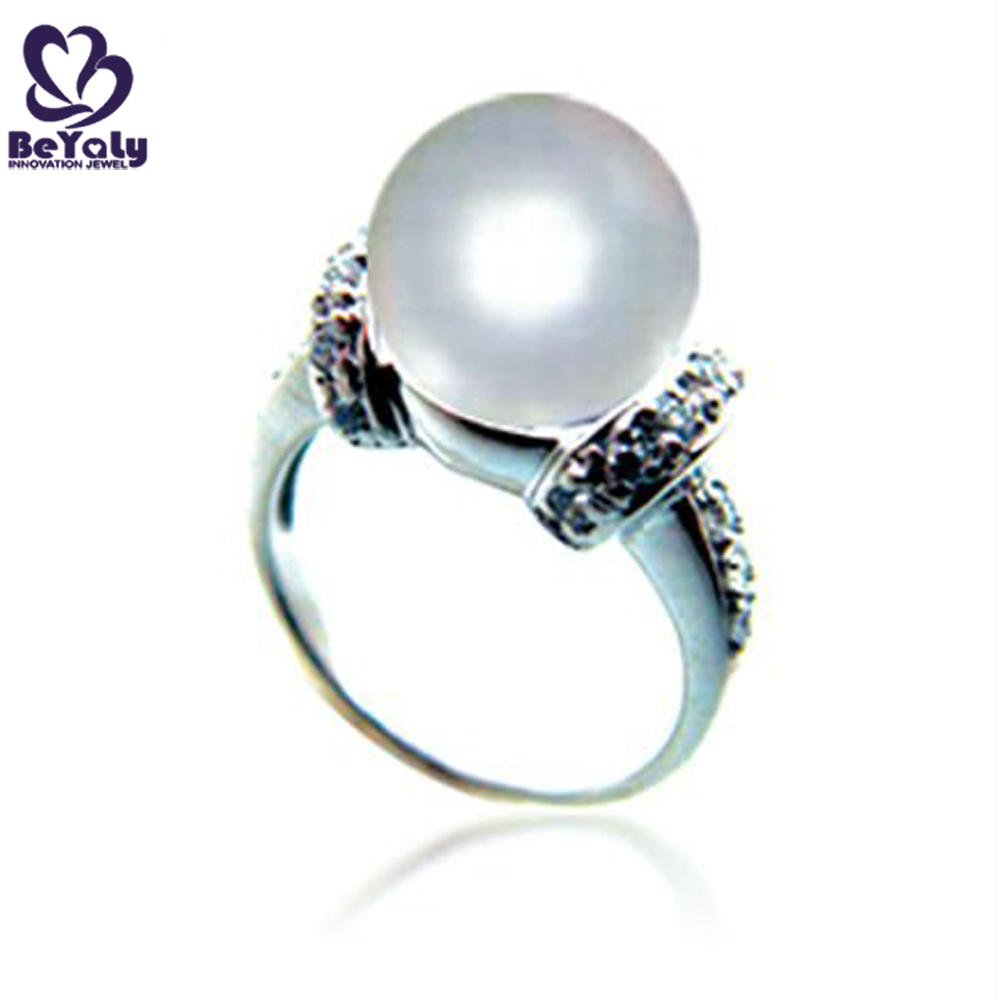 Cheap finger silver latest pearl ring designs for men and women