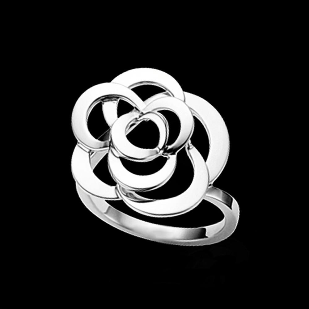 Anniversary souvenir flower 2 gram gold ring for women