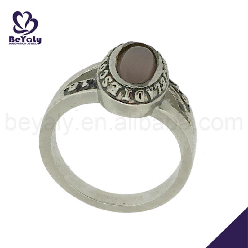 Big gemstone decorative delicate silver 3d printer jewelry