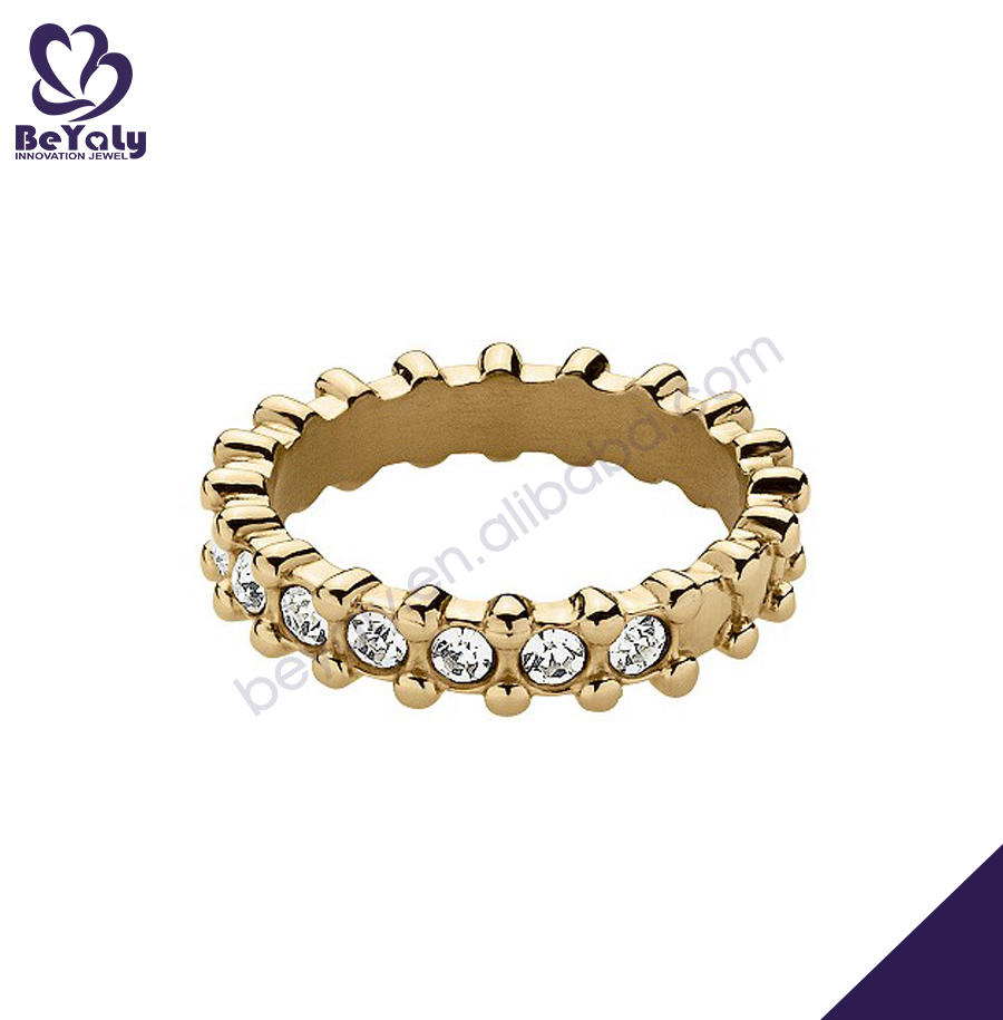 New hot sale cubic zircon dubai gold ring model