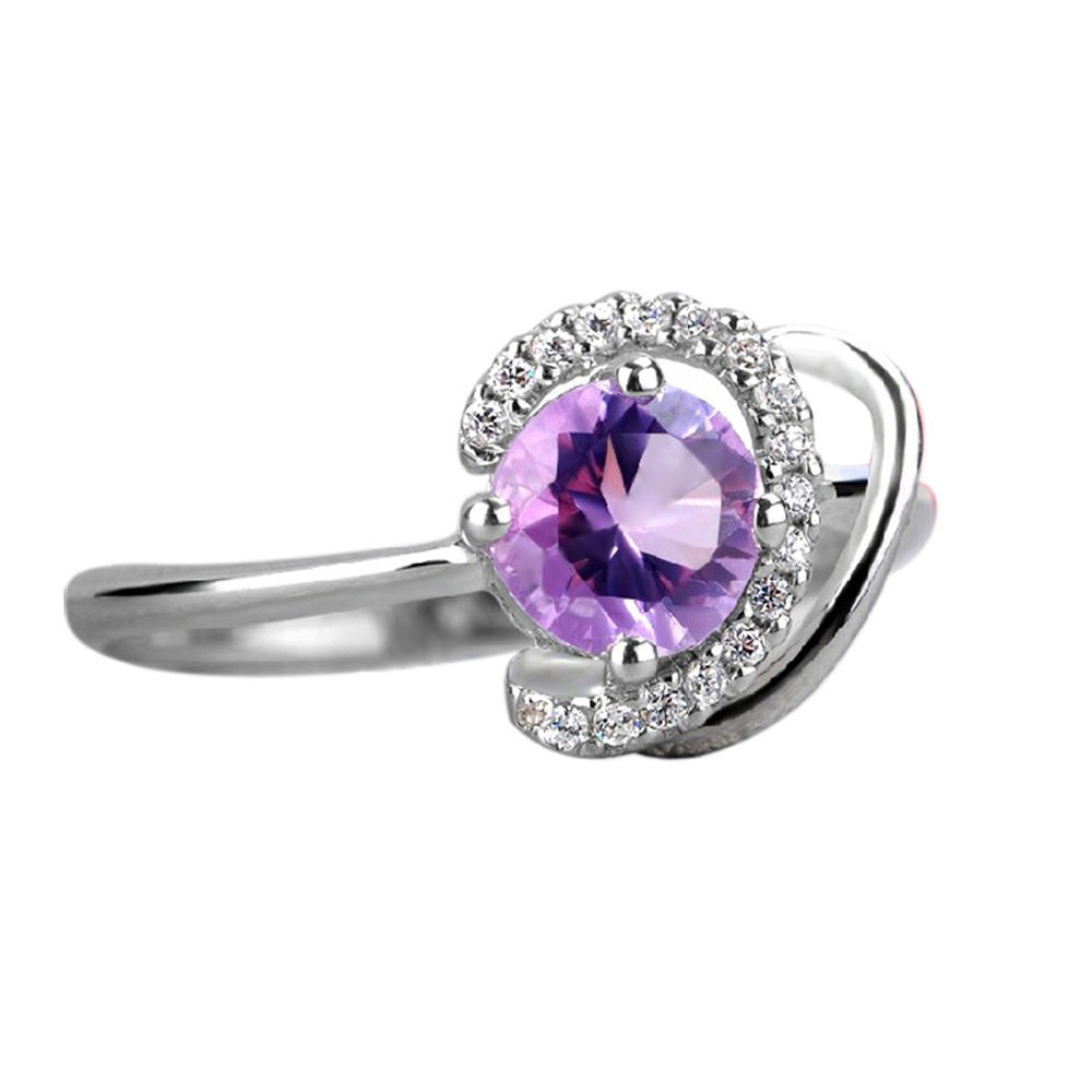 Rolling chic purple cz 9925 sterling silver jewelry