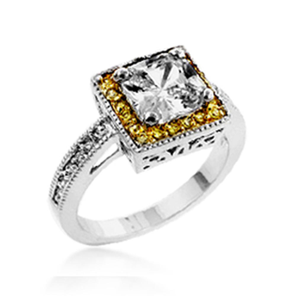 High quality cz custom square silver jewelry b2b