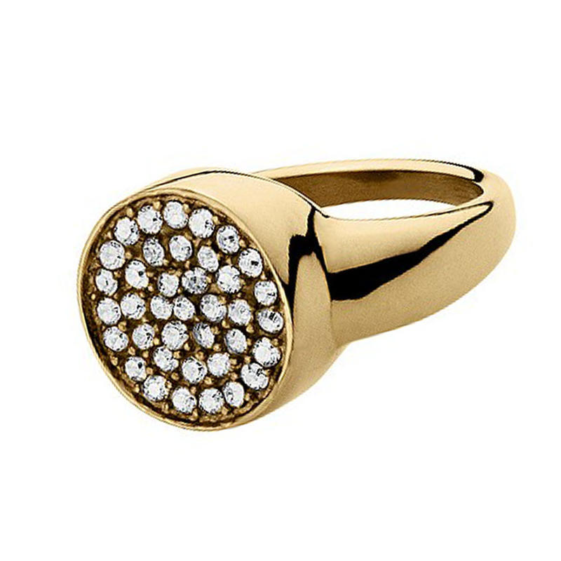 Fantastic Stone Beautiful Silver Seal Ring 9Ct Gold Jewellery