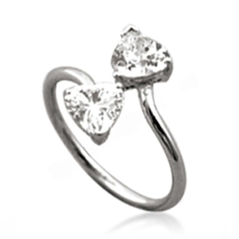 Simple Chic Silver Artificial Taiwan Diamond Ring Twist Design