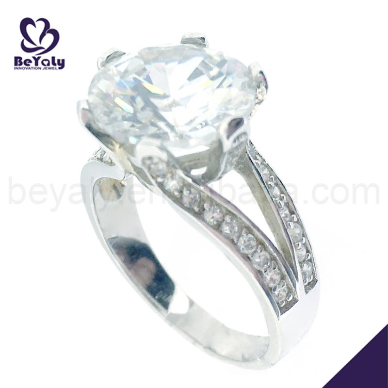 Cubic zircon 6925 silver band ring jewelry engagement ring band