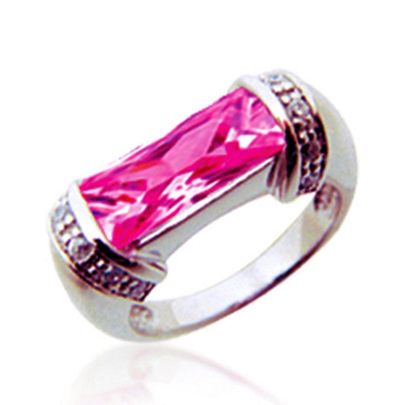 Cheap Cubic Zirconia Fashion 925 Silver Stone Pinky Ring Jewelry