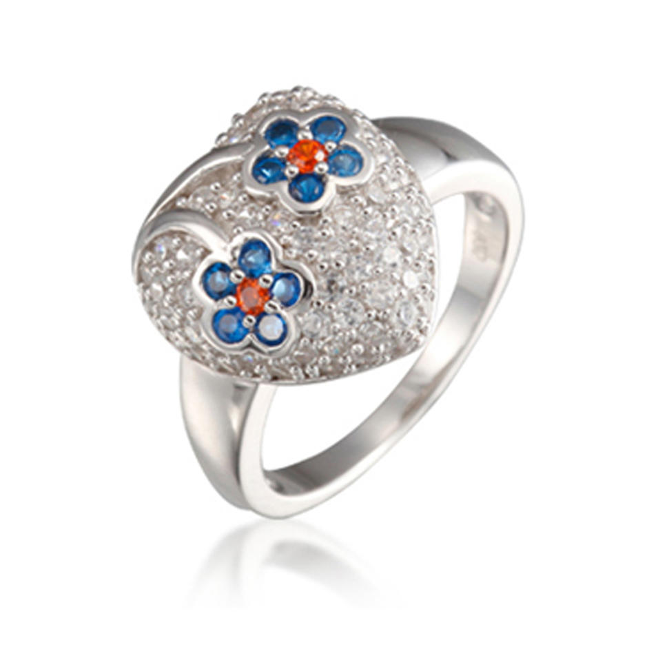 Cheap Silver Colored Flower Personalized Kids Mood Rings