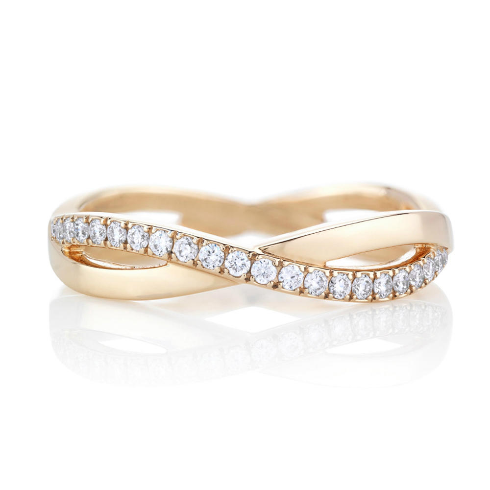 Refined Stacking Real Gold Jewelry Cheap Wedding Ring Sets