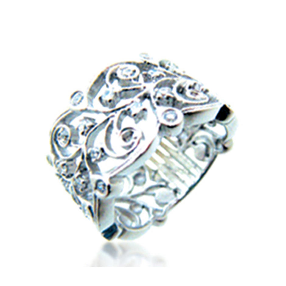 Women fancy hollow engraved silver spoon ring