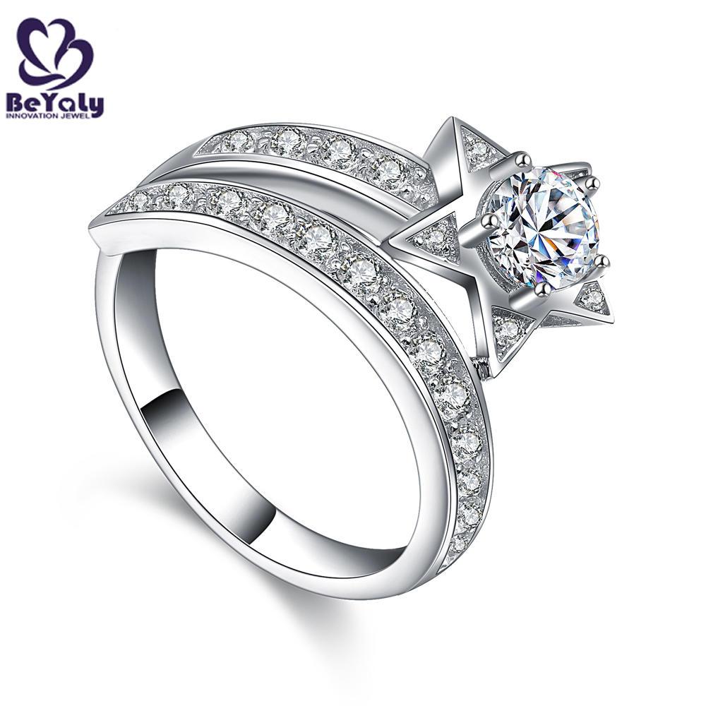 Fantastic girls cz star design 925 sterling silver index finger rings
