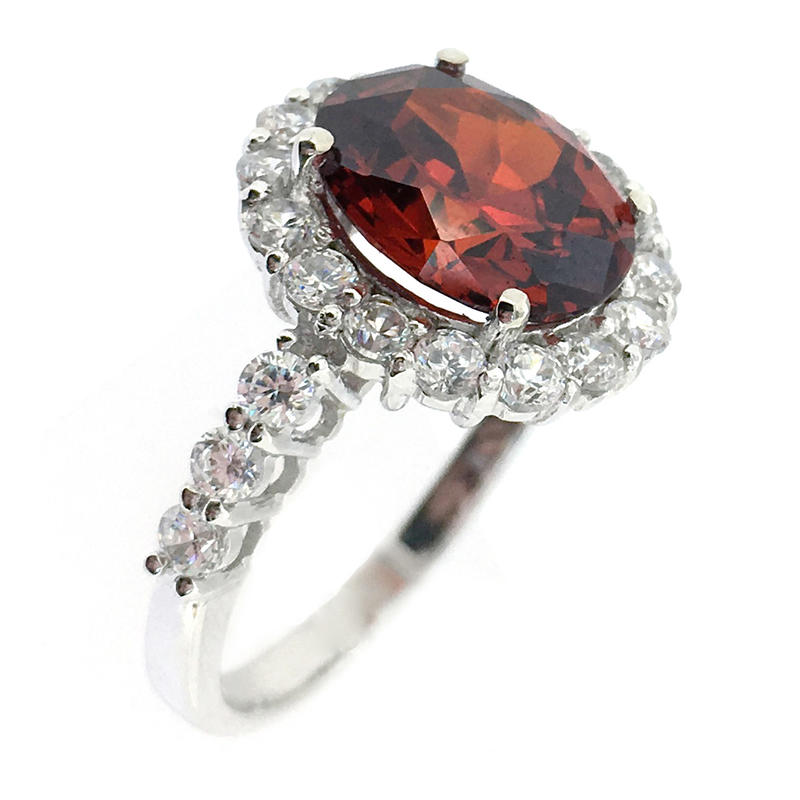 Wholesale Ruby Stone Silver Sample Wedding Ring Designs