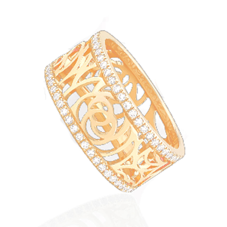 Rose cz beauty handmade solid gold ring mens
