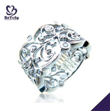 Women fancy hollow engraved silver spoon ring