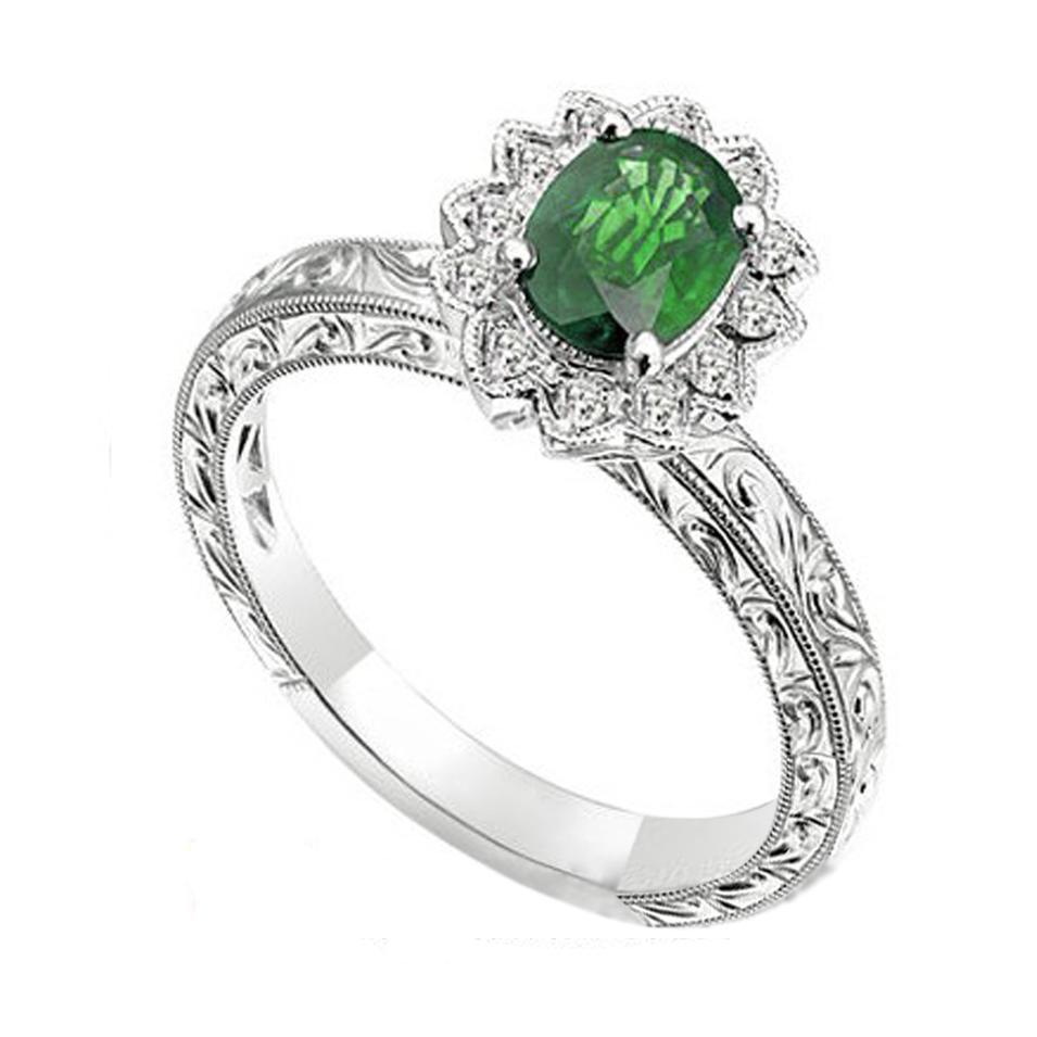 Shiny 925 Silver Cz Flower Islamic Rings