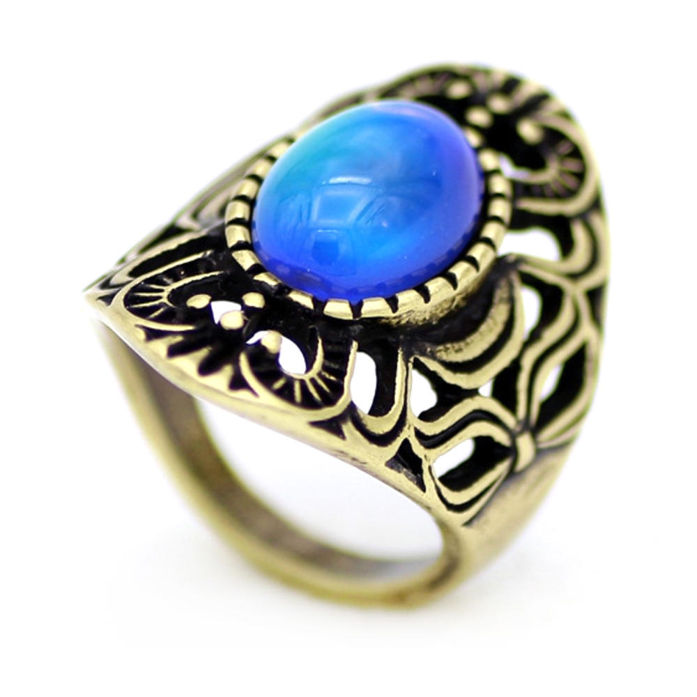 Gorgeous silver jewelry pink stone mood rings