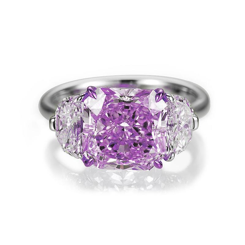 Delicate Women 925 Sterling Silver Austrian Crystal Ring Jewelry