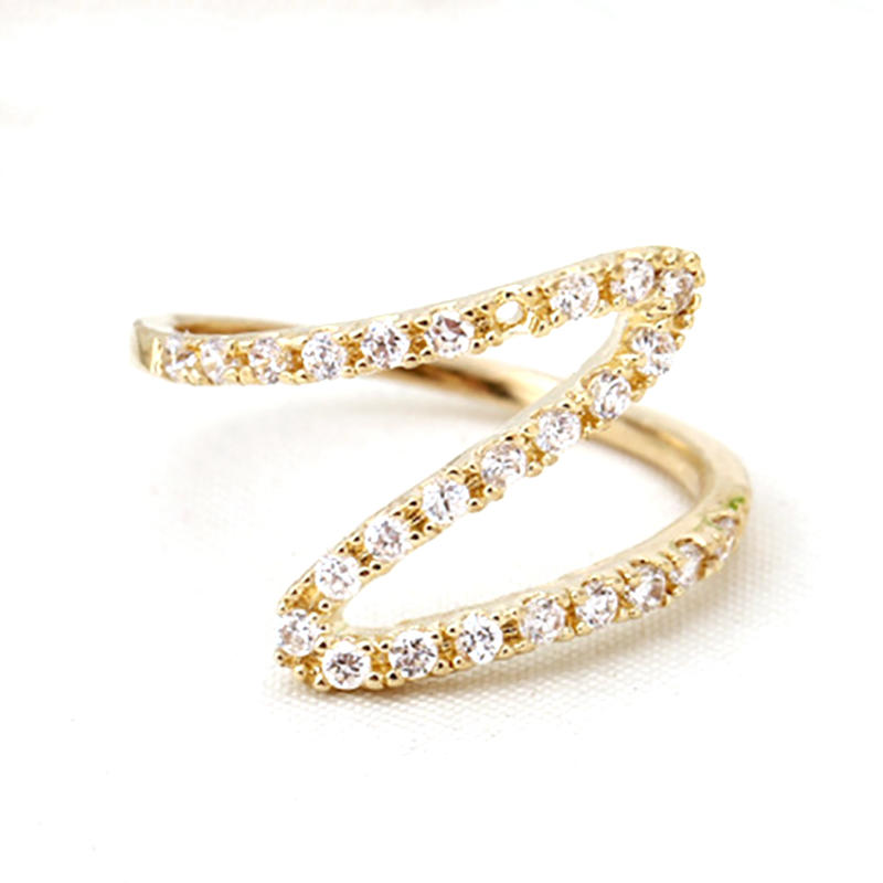 Gold Plated Wholesale Z Letter Custom 925 Silver Ring For Female