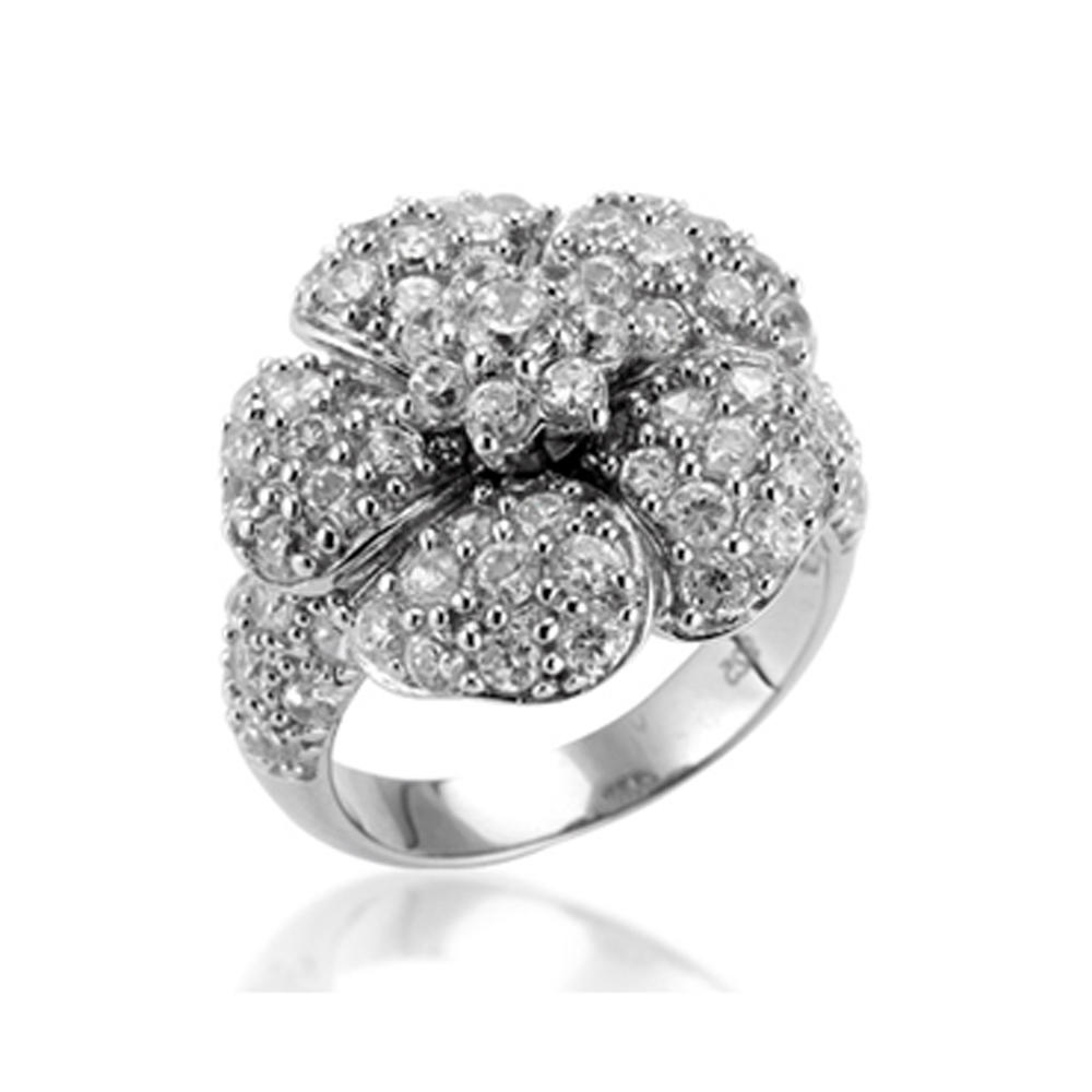 Mysterious Design Women's Engagement Cz 925 Silver Jewelry