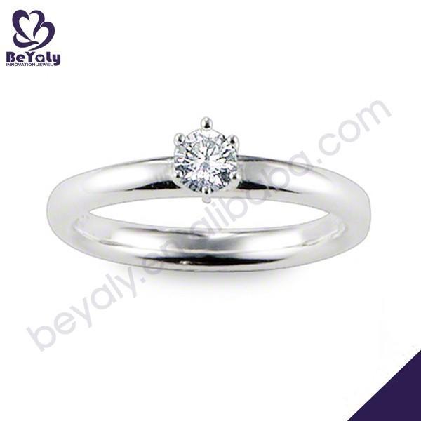 Simple design cz thailand silver costume jewelry manufacturer