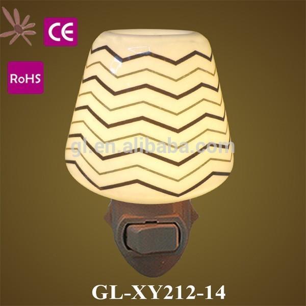 OEM GL-TC17 ETL CE ROHS BS garden flower Ceramic Night light for living room lamp as decoration and good for health