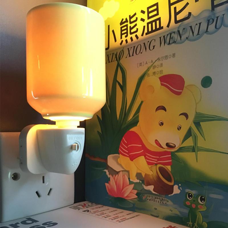 cylinder ceramic with incandescent bulb EU UK E12 W082 plug 220V fragrance stock cheap promotion porcelain cover lamp holder