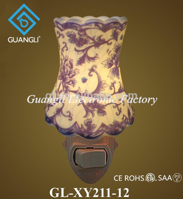 110v 220v 7w fancy nightlight cheap ceramic lamps