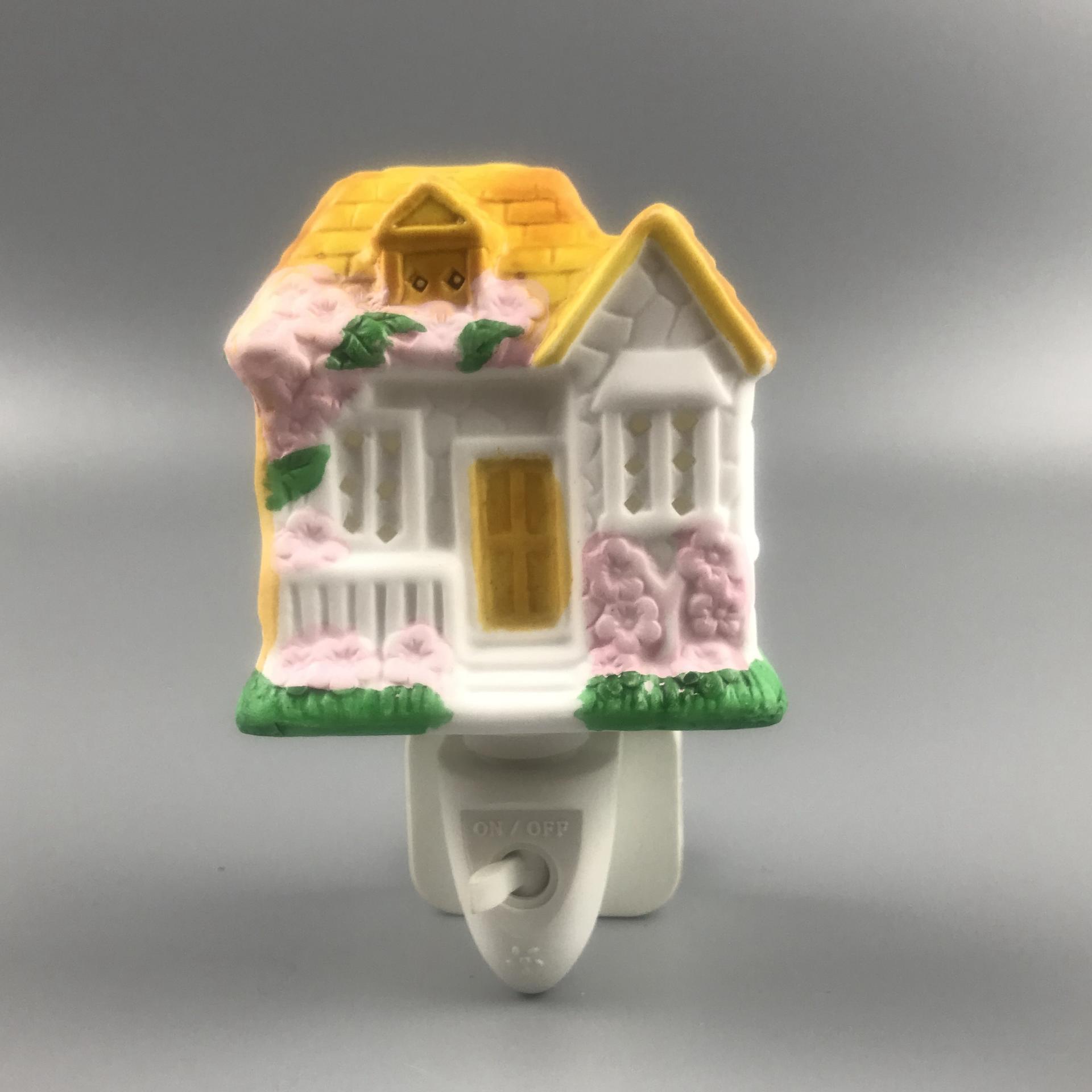 ETL CE ROHS fragrance ceramic lamp NIGHT LIGHT decoration in door with incandescent bulb