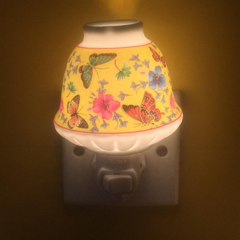 ETL CE SAA BS ceramic decoration porcelain night light with sensor and switch and bulb with 110V and 220V and 5 or 7 W