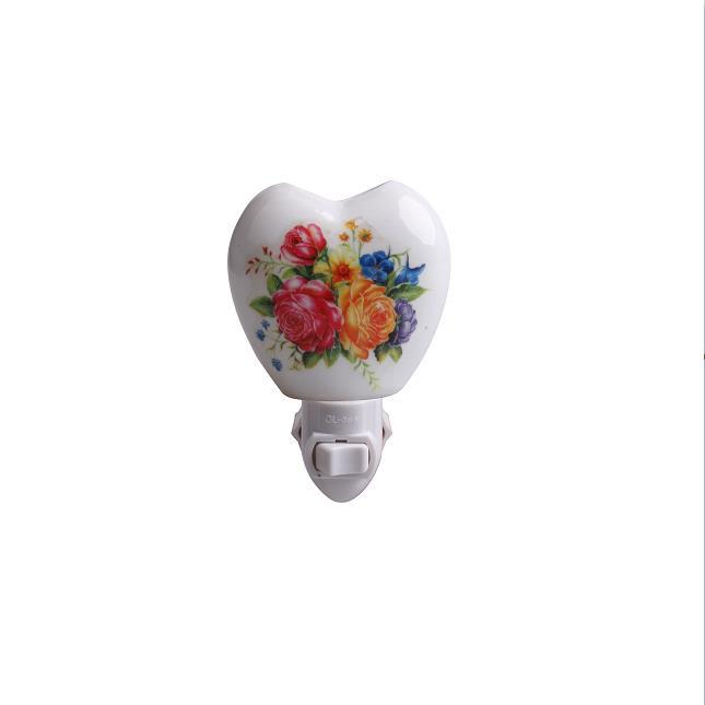 GL-TC27 OEM flower Ceramic Night light for living room lamp as decoration and good for health