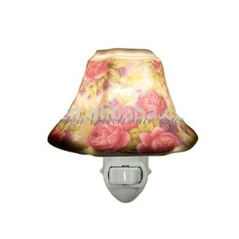 GL-TC01 OEM flower Ceramic Night light for living room lamp as decoration and good for health