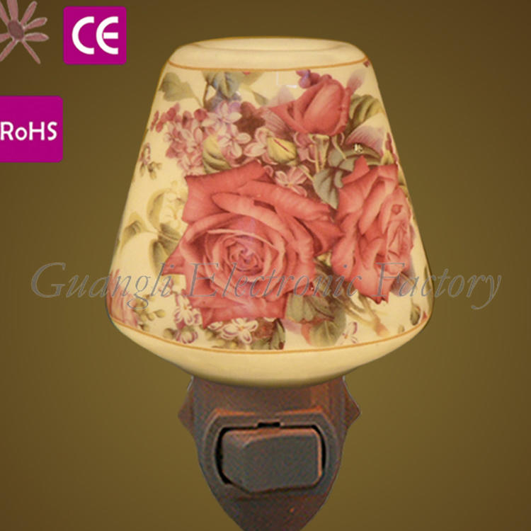 OEM support 110V/220V indicator light fragrance ceramic bedroom lamp