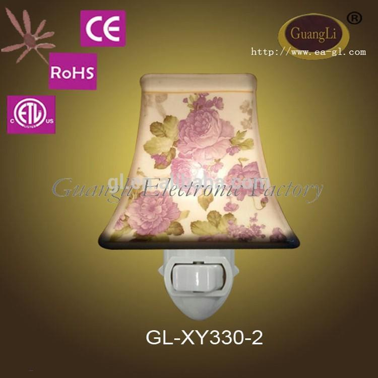 fashionableceramicwall lamp with button switch led lights holiday decoration in door