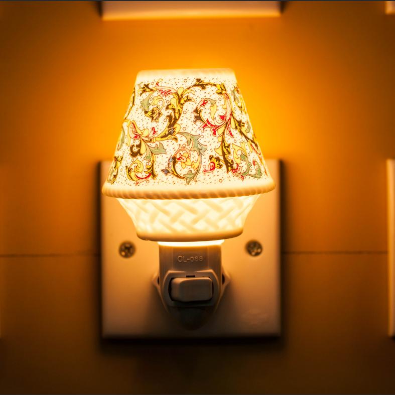 CE ROHS SAA BS ETL AROMA Fashion Ceramic Nightlight