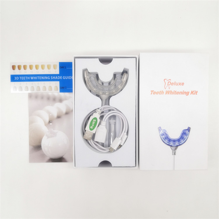 High quality professional led teeth whitening kit box dropshipping