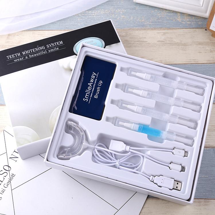 private label cosmetics teeth whitening kit with mini teeth whitening light