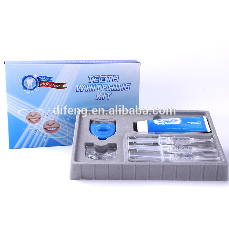 private label home use teeth whitening set with LED light, teeth whitening gel, teeth whitening toothpaste