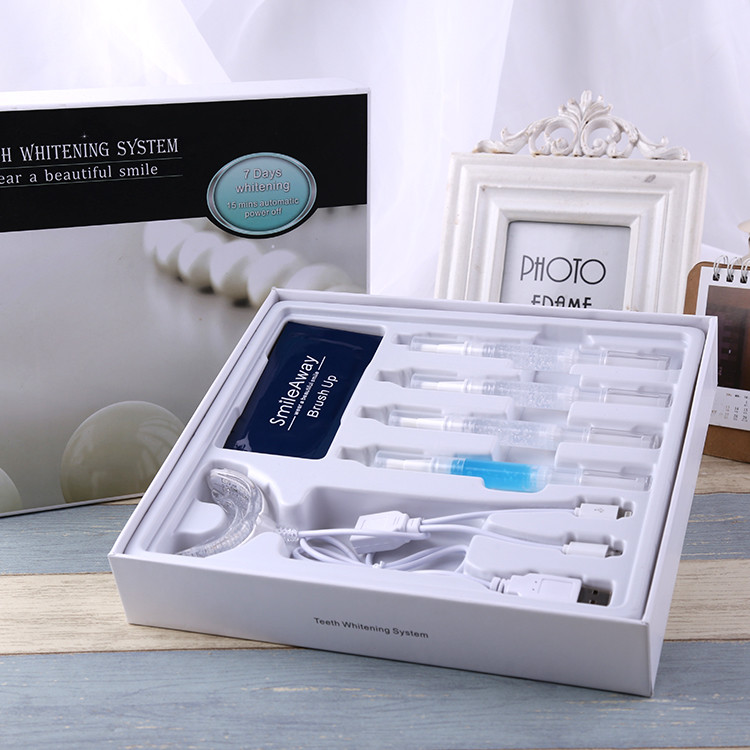 Portable teeth whitening led light for home use bleaching kits approved