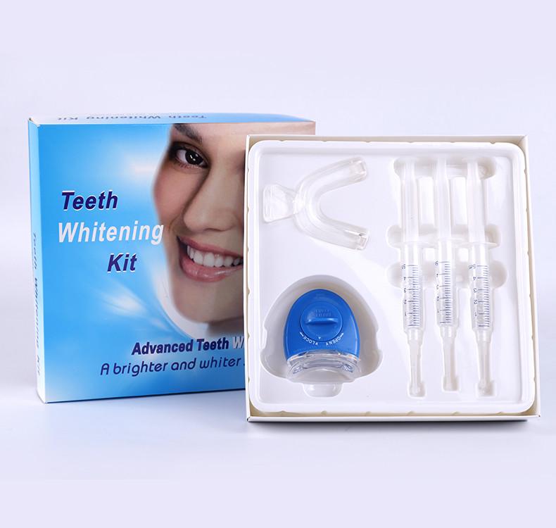 white smile teeth whitening kit with mini LED light