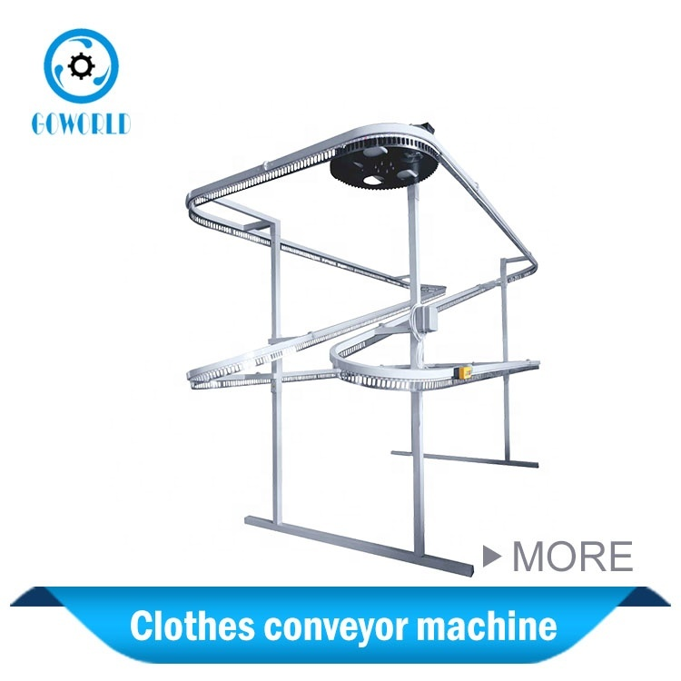 Clothes conveyor machine for commercial laundry shop