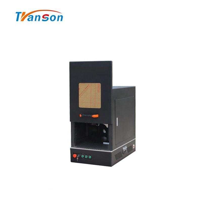 20W 30W 50W 100W Black Enclosed Fiber Lazer Mark Engraving Machine Jinan