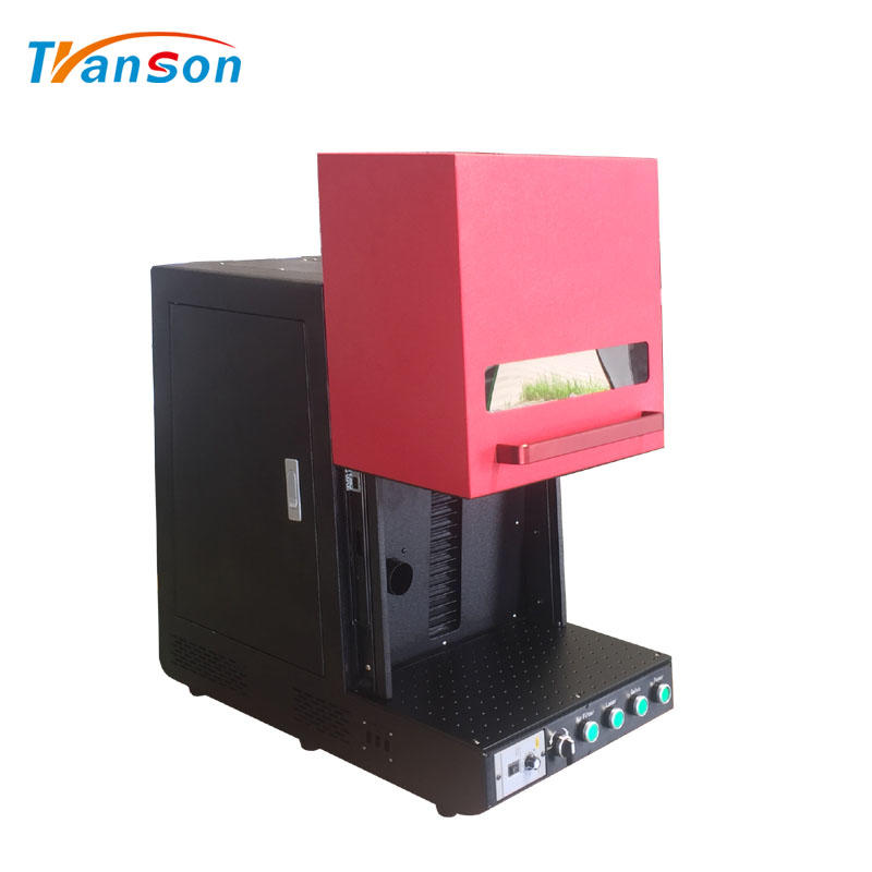 Enclosed Raycus Fiber Laser Marking Machine 30W With Optional Air Filter