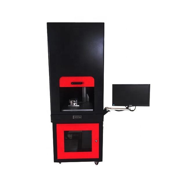 Fiber Laser Marking Machine With Raycus Max Super Laser 20W Enclosed