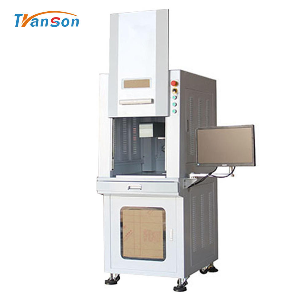 Enclosed Stainless Steel Tpye Fiber Laser Marking Machine for Metal With CE FDA
