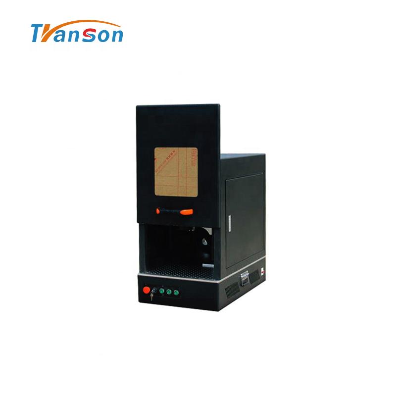 mini New Design Enclosed Fiber Laser Marking Machine Price Working on Metal 100W