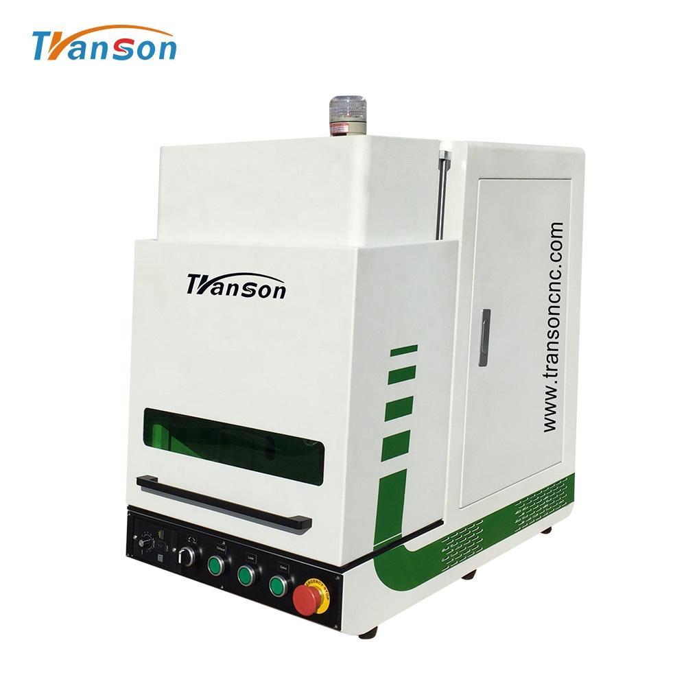 20W RAYCUS Enclosed Fiber Laser Marking Machine Logo Printing Machines For Jewelry