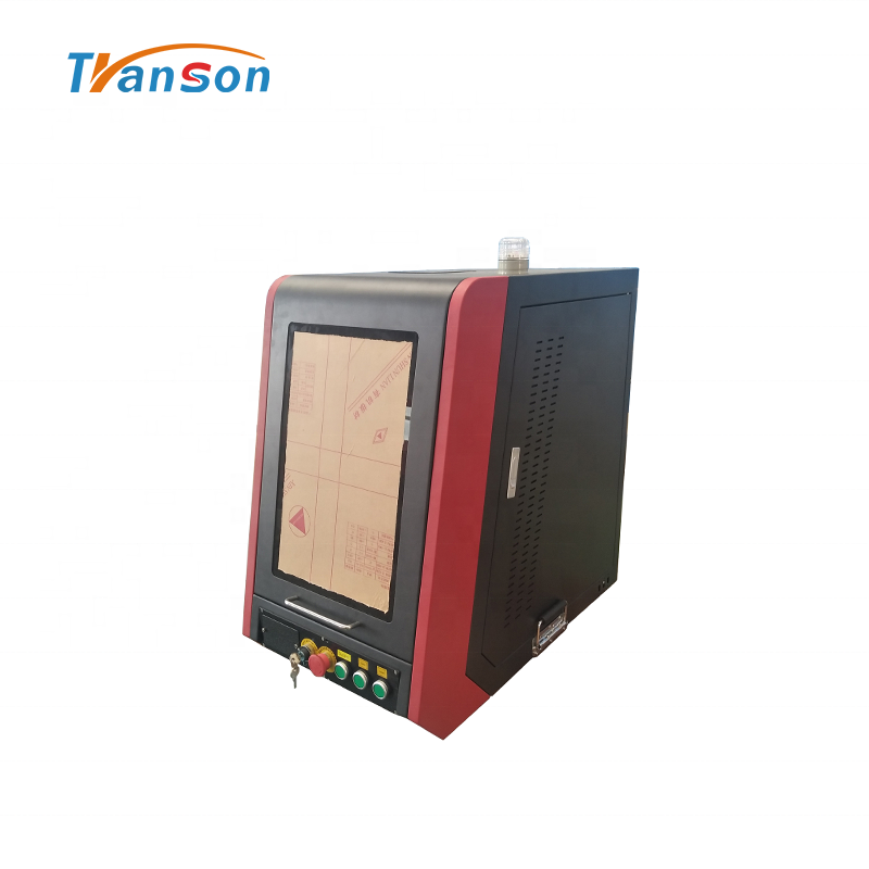 100WEnclosed Fiber Laser Marking Machine Price for Metal and Part Nonmetal